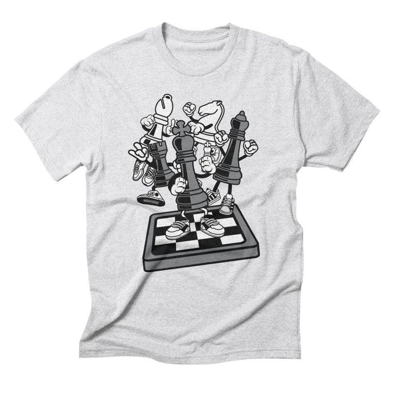 Game Of Chess Men's Triblend T-Shirt by WackyToonz