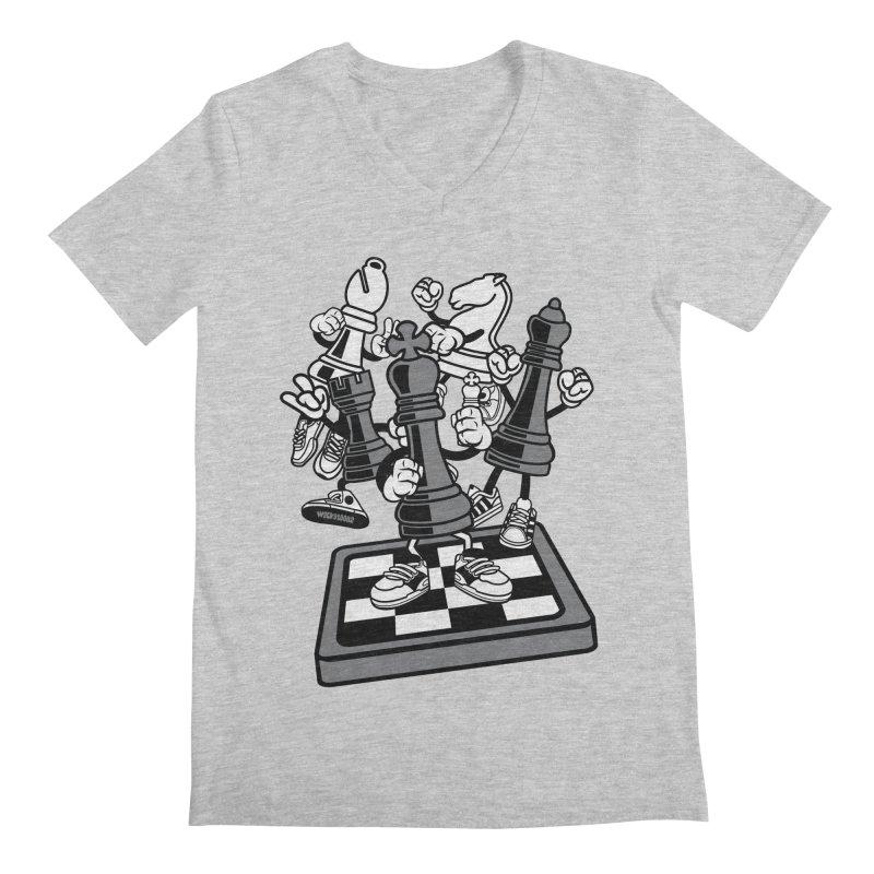 Game Of Chess Men's Regular V-Neck by WackyToonz