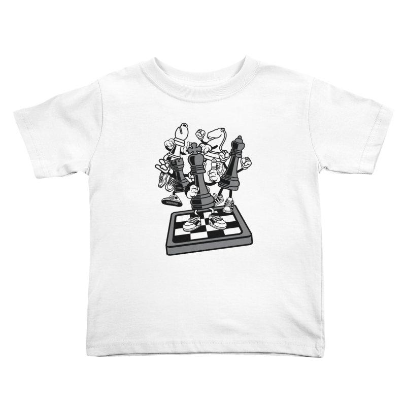 Game Of Chess Kids Toddler T-Shirt by WackyToonz