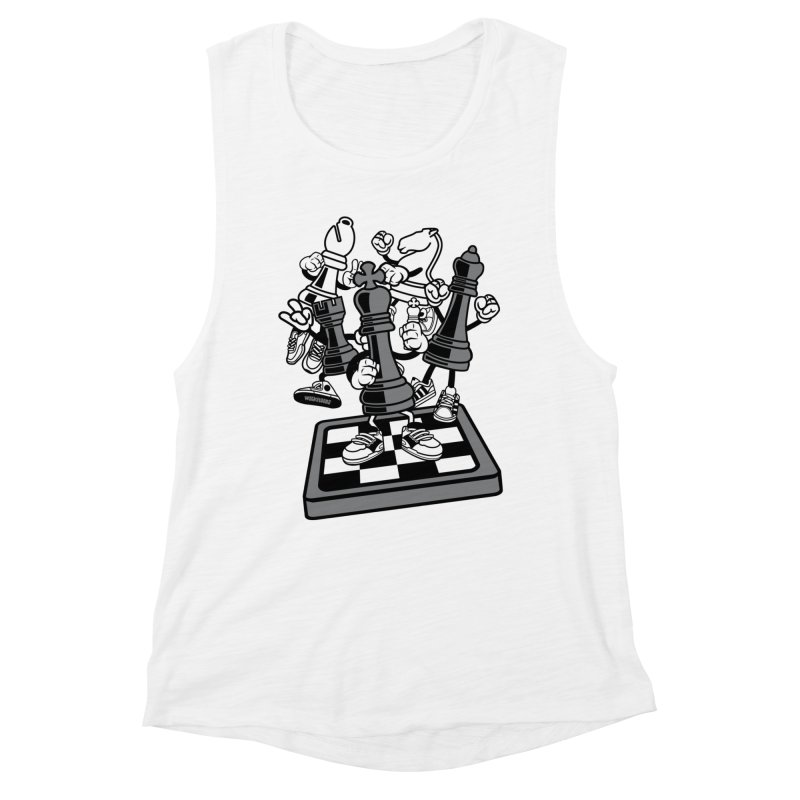 Game Of Chess Women's Muscle Tank by WackyToonz