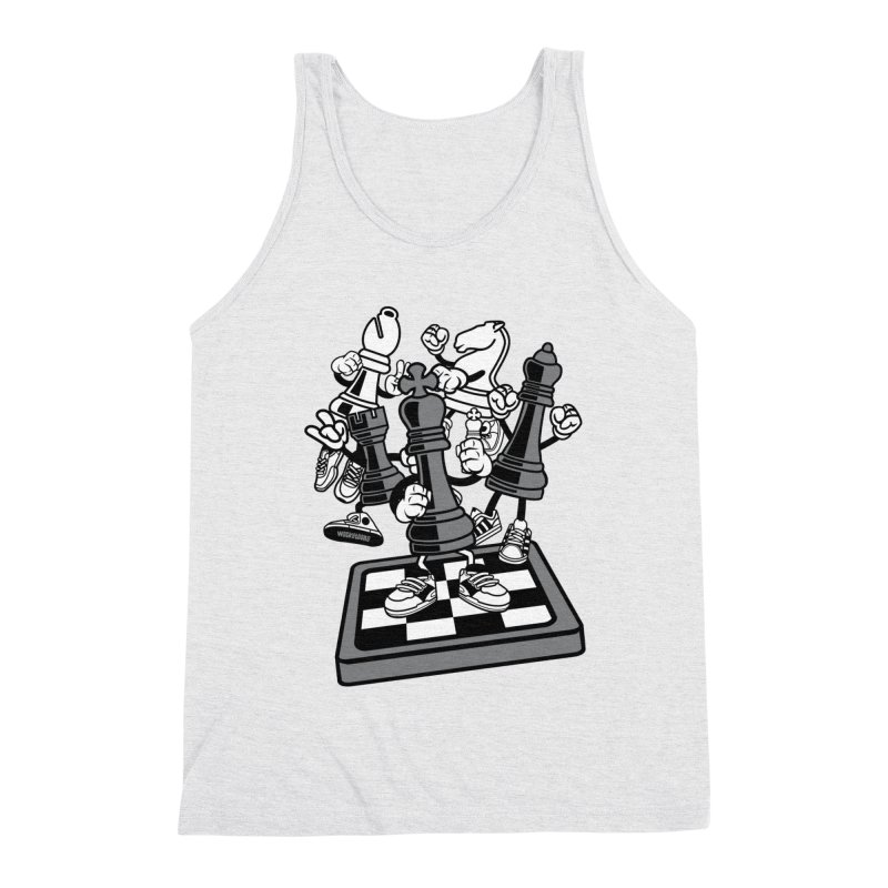 Game Of Chess Men's Triblend Tank by WackyToonz
