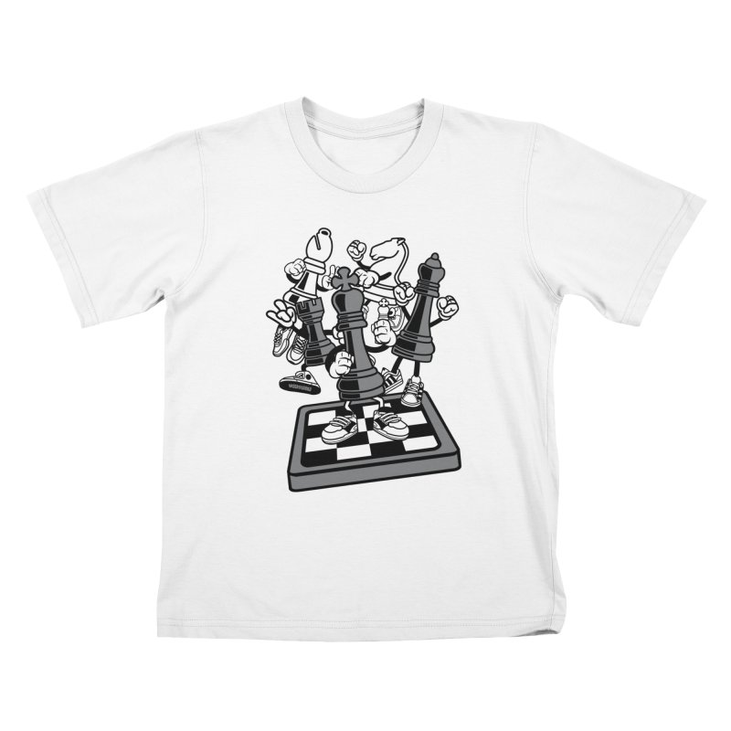 Game Of Chess Kids T-Shirt by WackyToonz