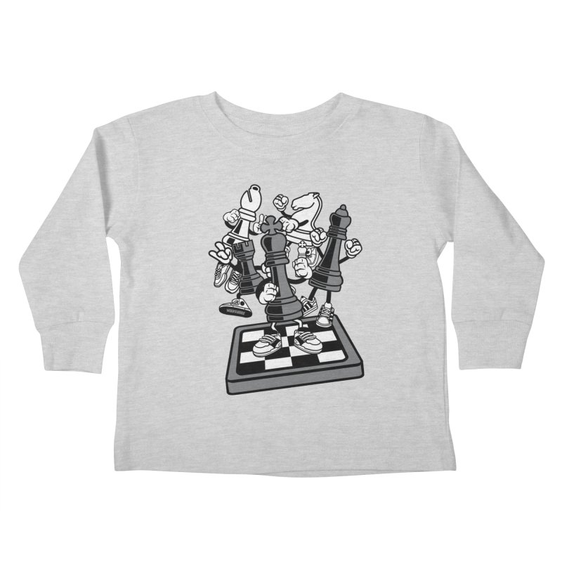Game Of Chess Kids Toddler Longsleeve T-Shirt by WackyToonz