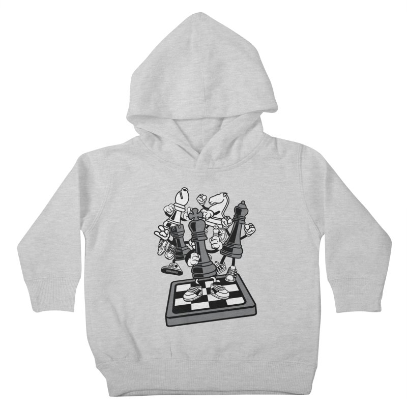 Game Of Chess Kids Toddler Pullover Hoody by WackyToonz