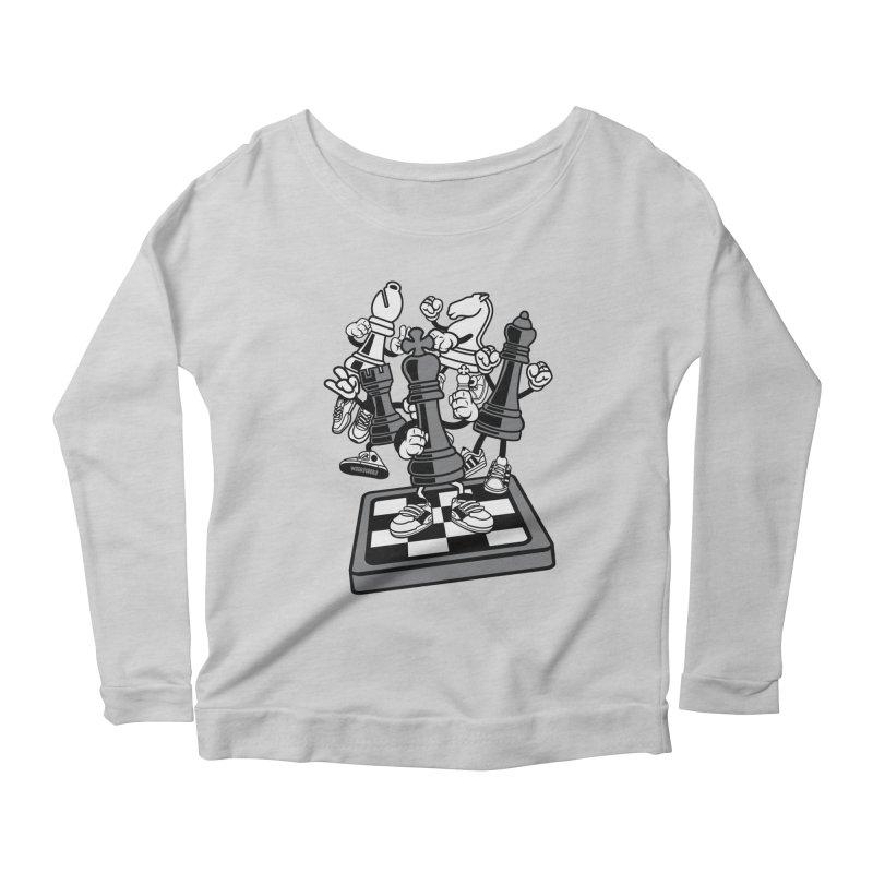 Game Of Chess Women's Scoop Neck Longsleeve T-Shirt by WackyToonz