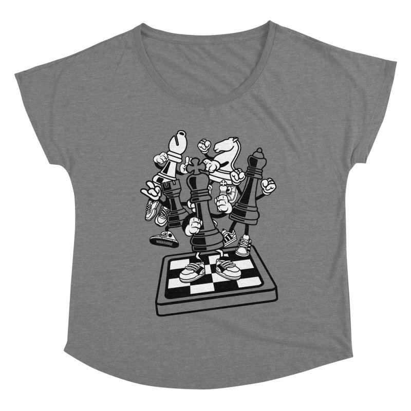 Game Of Chess Women's Dolman Scoop Neck by WackyToonz