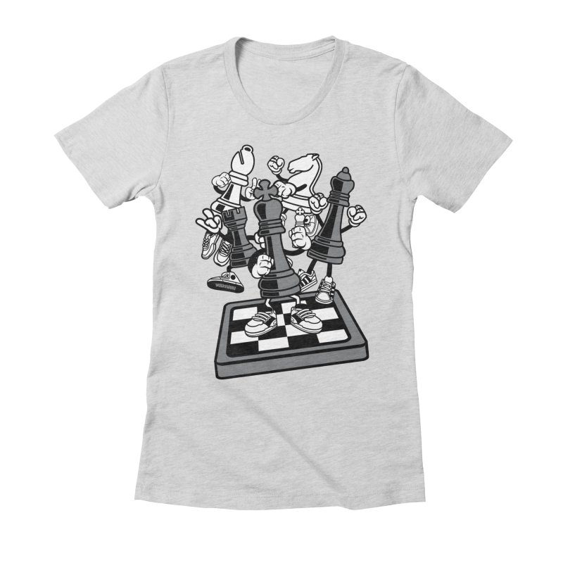 Game Of Chess Women's Fitted T-Shirt by WackyToonz