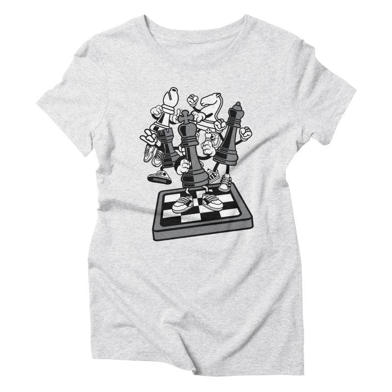 Game Of Chess Women's Triblend T-Shirt by WackyToonz