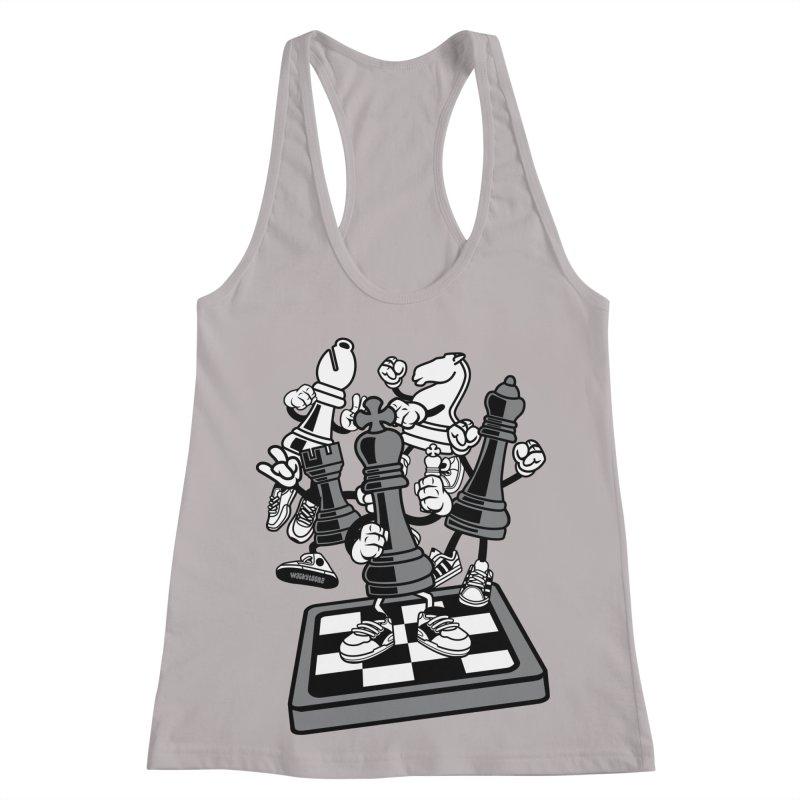 Game Of Chess Women's Racerback Tank by WackyToonz