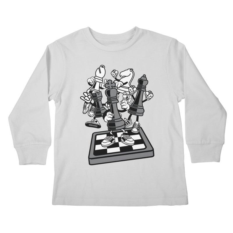 Game Of Chess Kids Longsleeve T-Shirt by WackyToonz