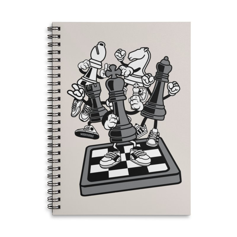 Game Of Chess Accessories Lined Spiral Notebook by WackyToonz