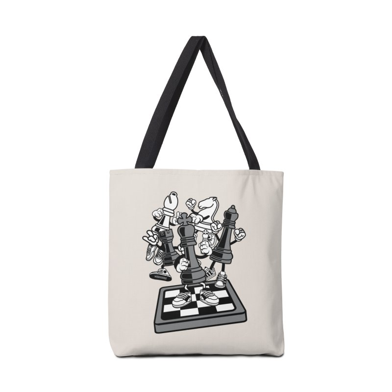 Game Of Chess Accessories Tote Bag Bag by WackyToonz