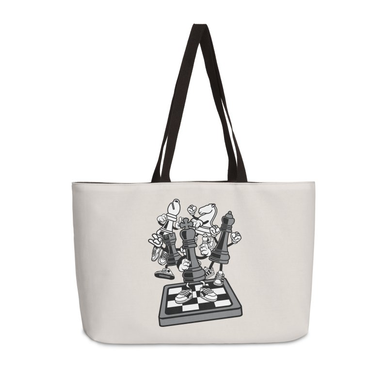 Game Of Chess Accessories Weekender Bag Bag by WackyToonz