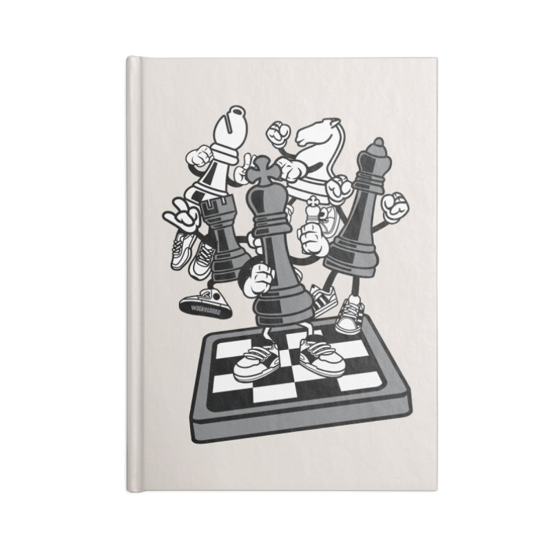 Game Of Chess Accessories Lined Journal Notebook by WackyToonz