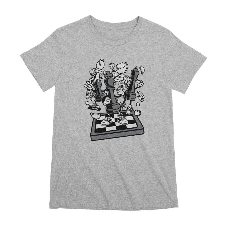 Game Of Chess Women's Premium T-Shirt by WackyToonz