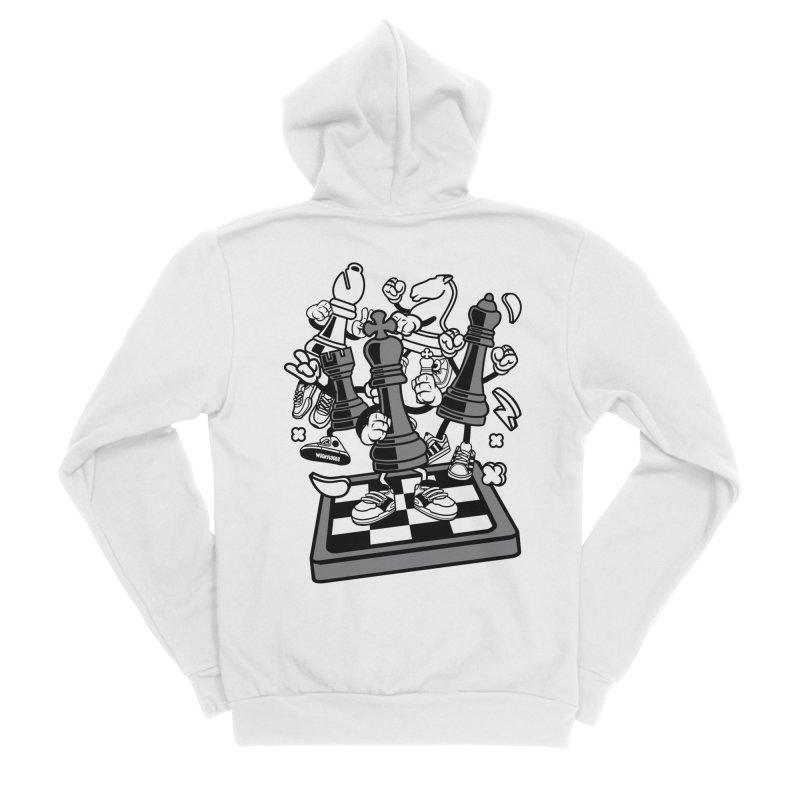 Game Of Chess Women's Sponge Fleece Zip-Up Hoody by WackyToonz