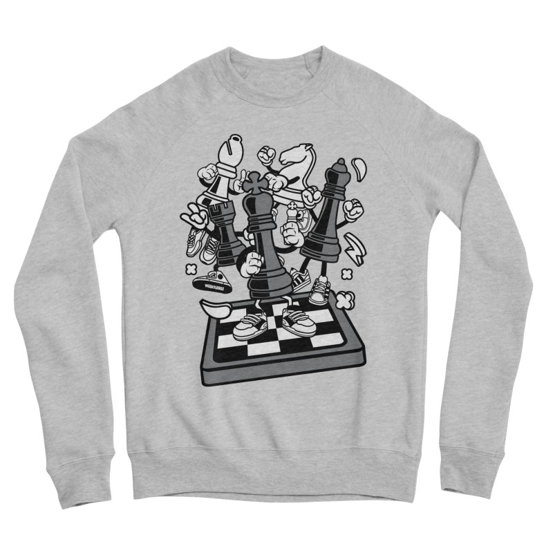 Game Of Chess Men's Sponge Fleece Sweatshirt by WackyToonz