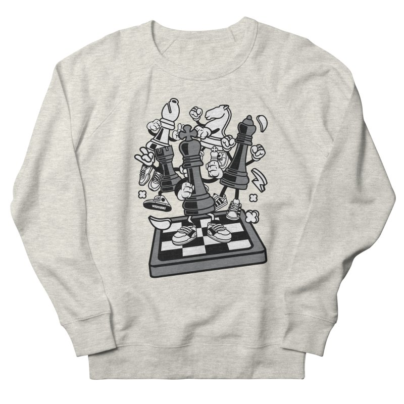 Game Of Chess Men's French Terry Sweatshirt by WackyToonz