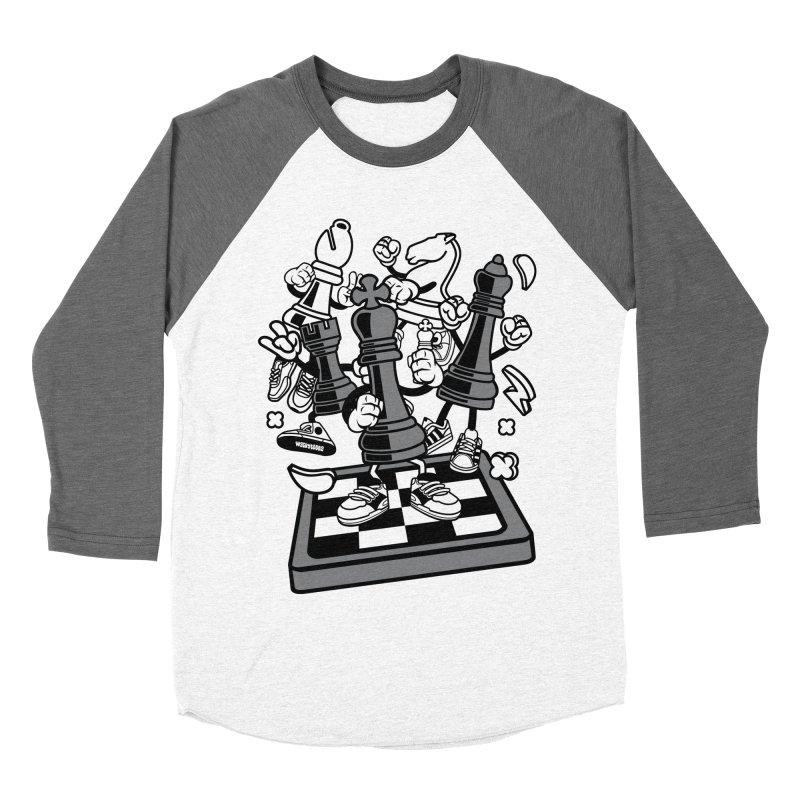 Game Of Chess Men's Baseball Triblend Longsleeve T-Shirt by WackyToonz