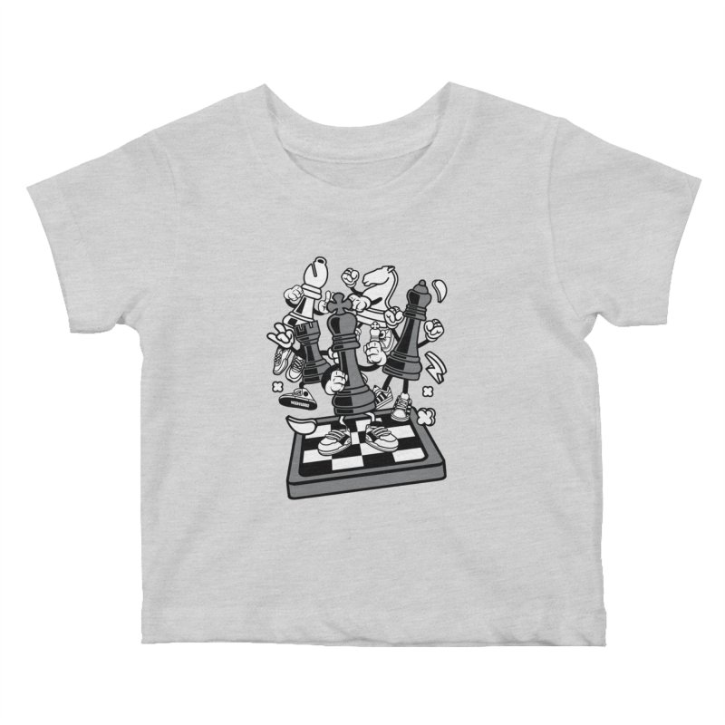 Game Of Chess Kids Baby T-Shirt by WackyToonz