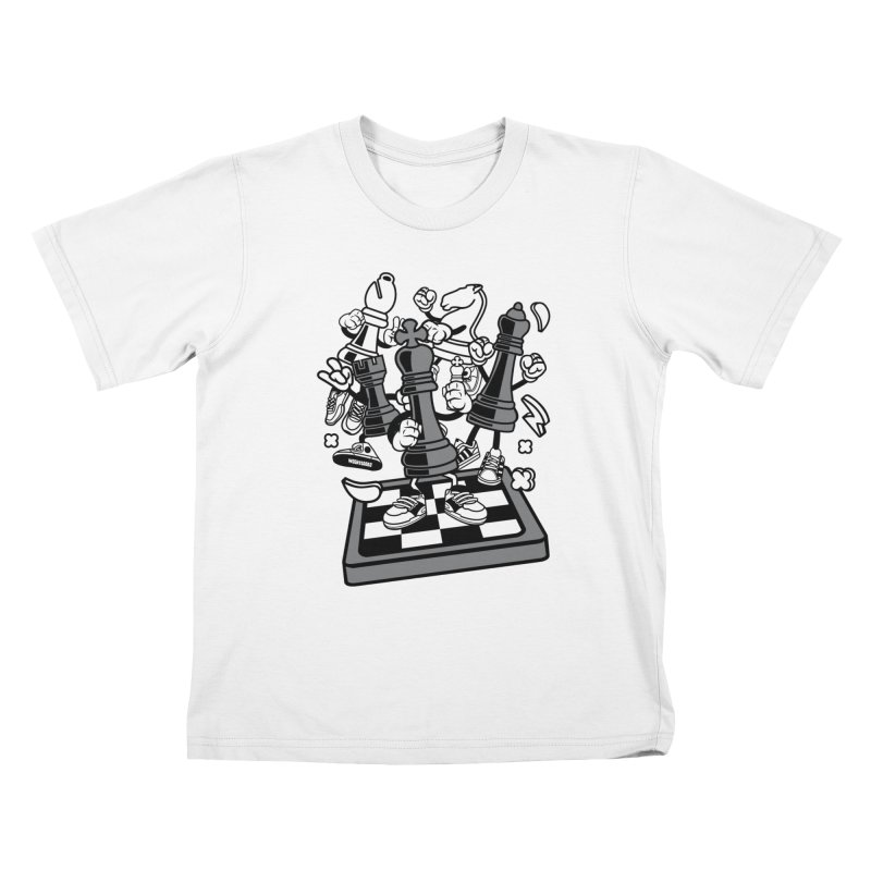 Game Of Chess Kids T-Shirt by WackyToonz