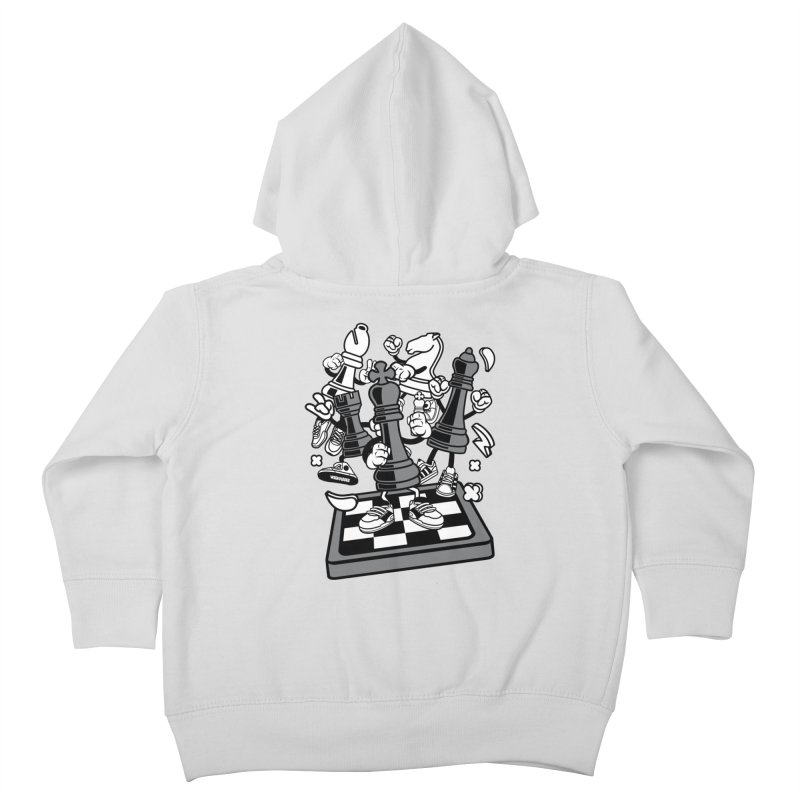 Game Of Chess Kids Toddler Zip-Up Hoody by WackyToonz