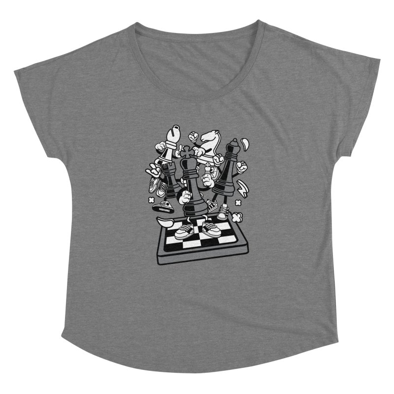 Game Of Chess Women's Dolman Scoop Neck by WackyToonz