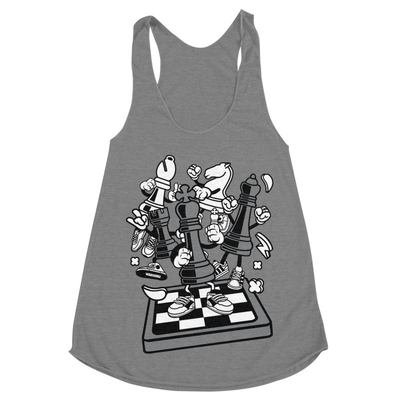Game Of Chess Women's Racerback Triblend Tank by WackyToonz