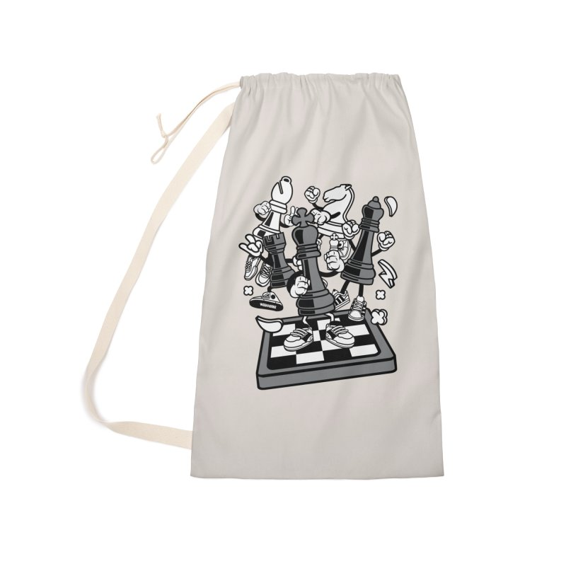 Game Of Chess Accessories Laundry Bag Bag by WackyToonz
