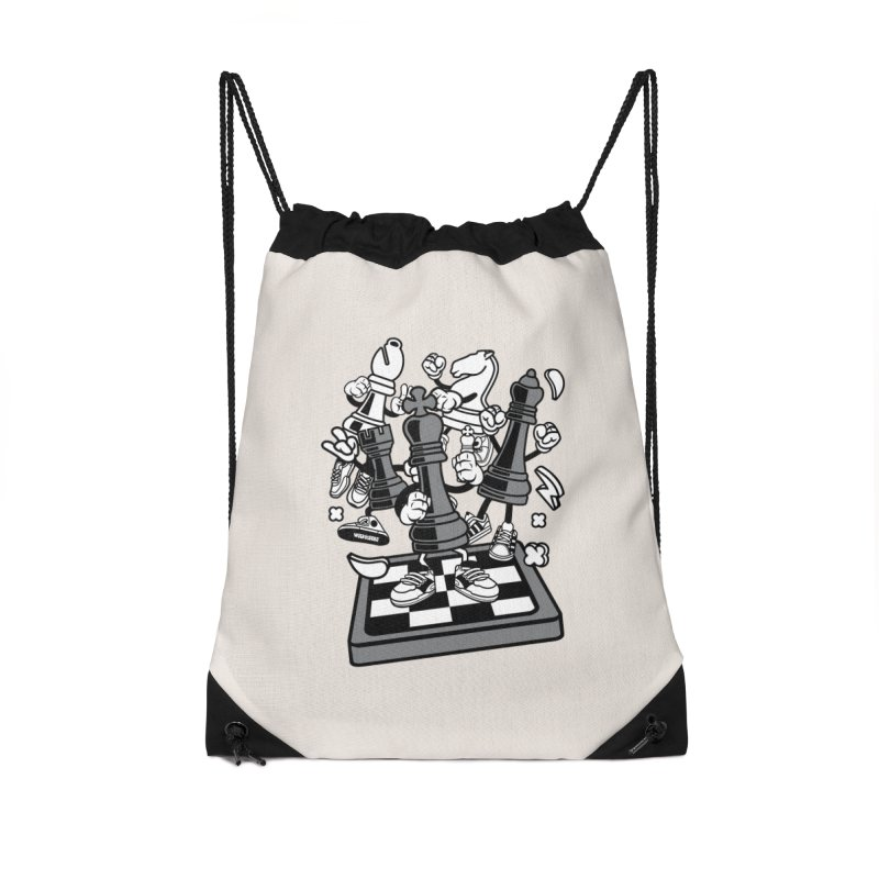 Game Of Chess Accessories Drawstring Bag Bag by WackyToonz