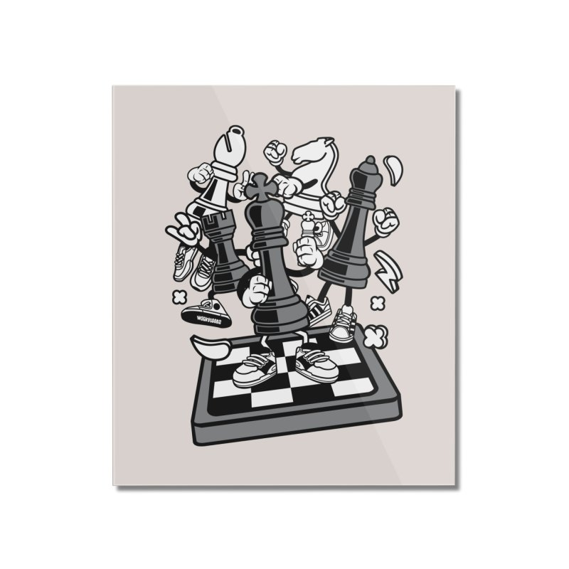 Game Of Chess Home Mounted Acrylic Print by WackyToonz