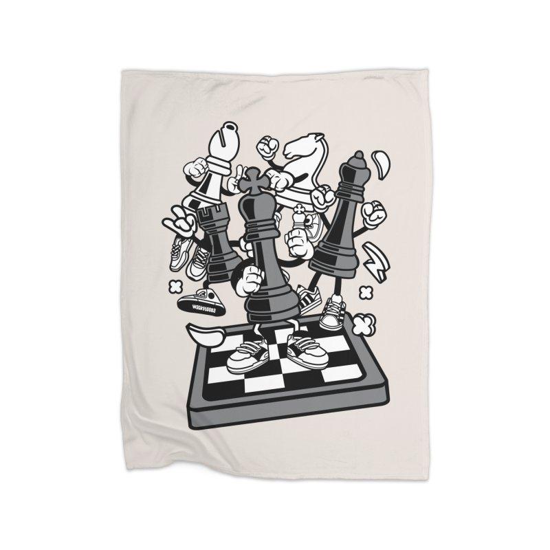 Game Of Chess Home Fleece Blanket Blanket by WackyToonz
