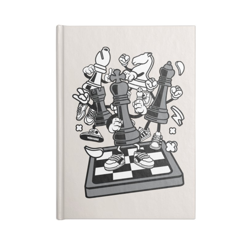 Game Of Chess Accessories Blank Journal Notebook by WackyToonz
