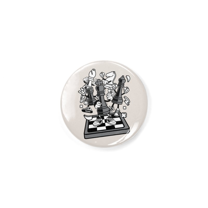Game Of Chess Accessories Button by WackyToonz