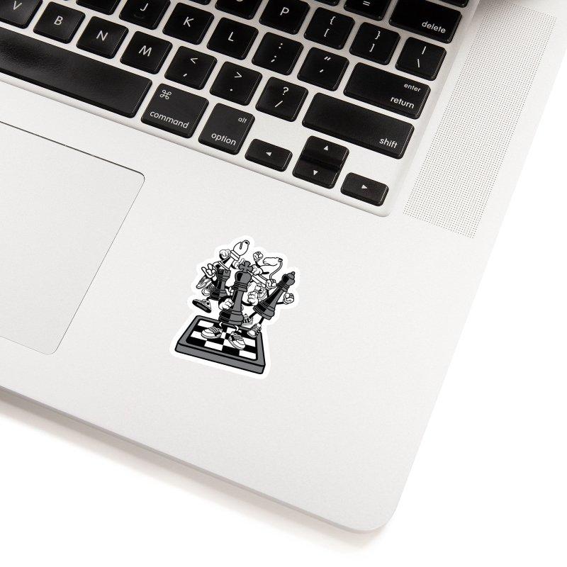 Game Of Chess Accessories Sticker by WackyToonz