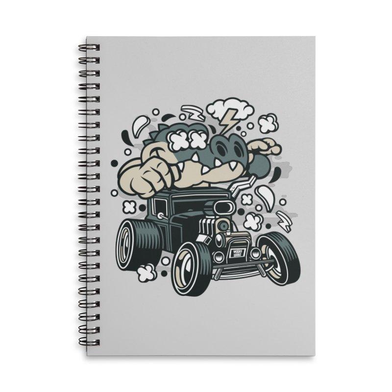 Croc Rod Accessories Lined Spiral Notebook by WackyToonz