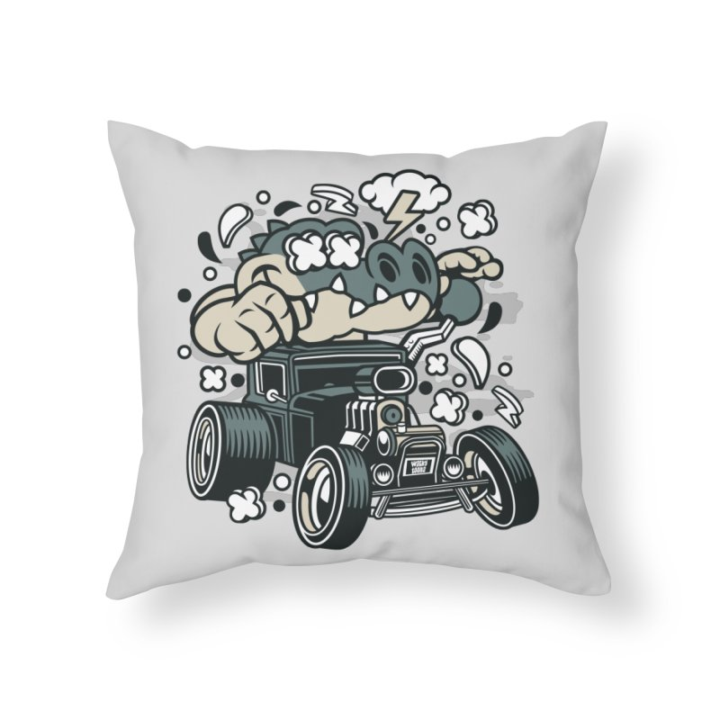 Croc Rod Home Throw Pillow by WackyToonz