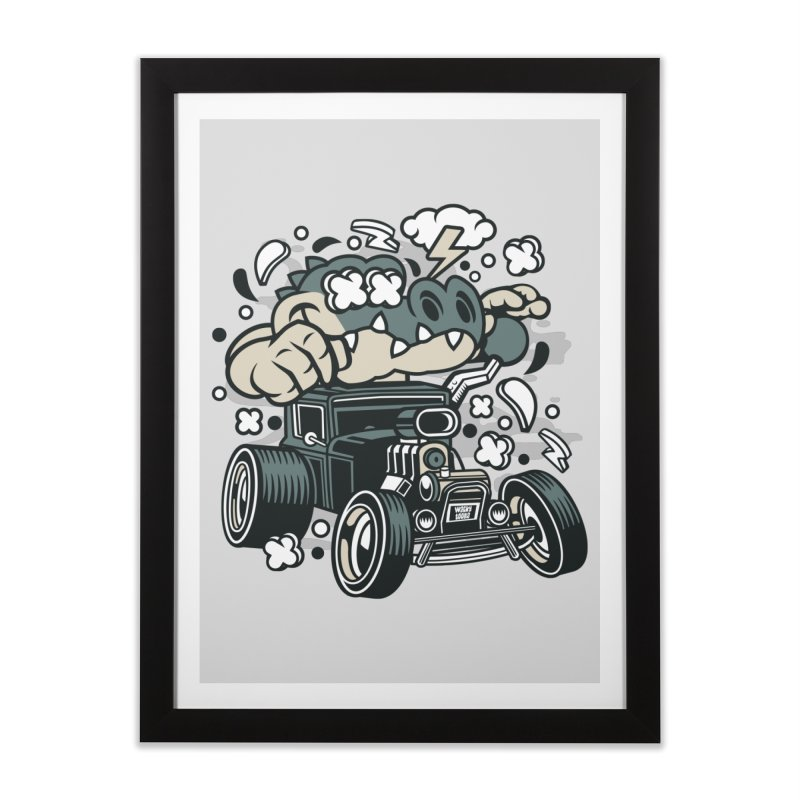 Croc Rod Home Framed Fine Art Print by WackyToonz