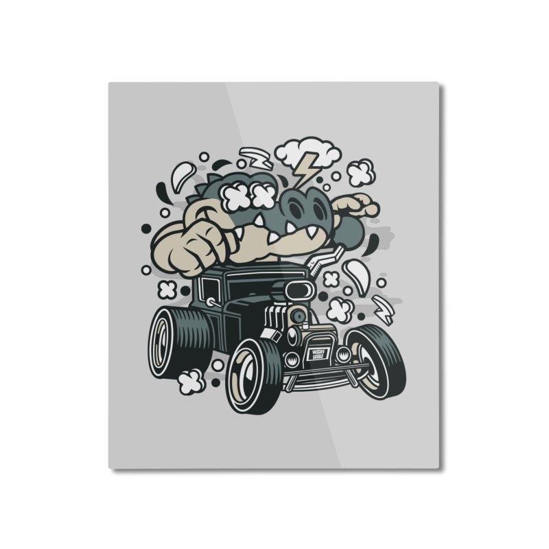 Croc Rod Home Mounted Aluminum Print by WackyToonz