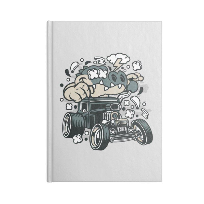 Croc Rod Accessories Lined Journal Notebook by WackyToonz