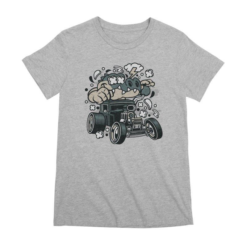 Croc Rod Women's Premium T-Shirt by WackyToonz