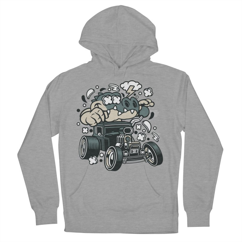 Croc Rod Men's French Terry Pullover Hoody by WackyToonz