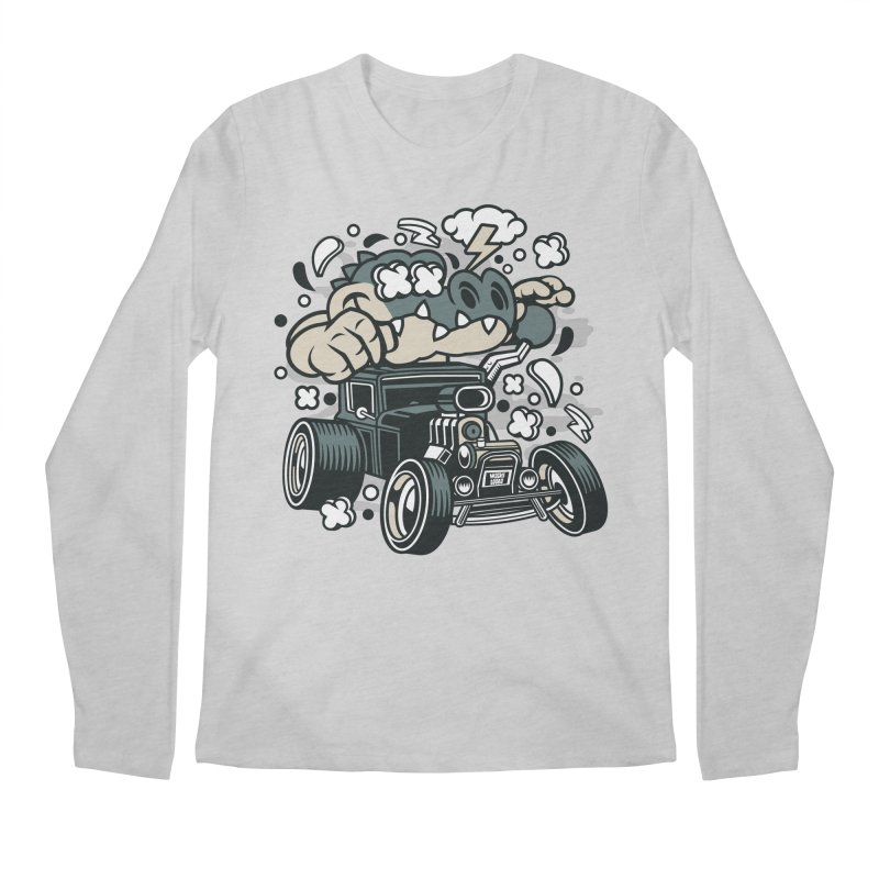 Croc Rod Men's Regular Longsleeve T-Shirt by WackyToonz
