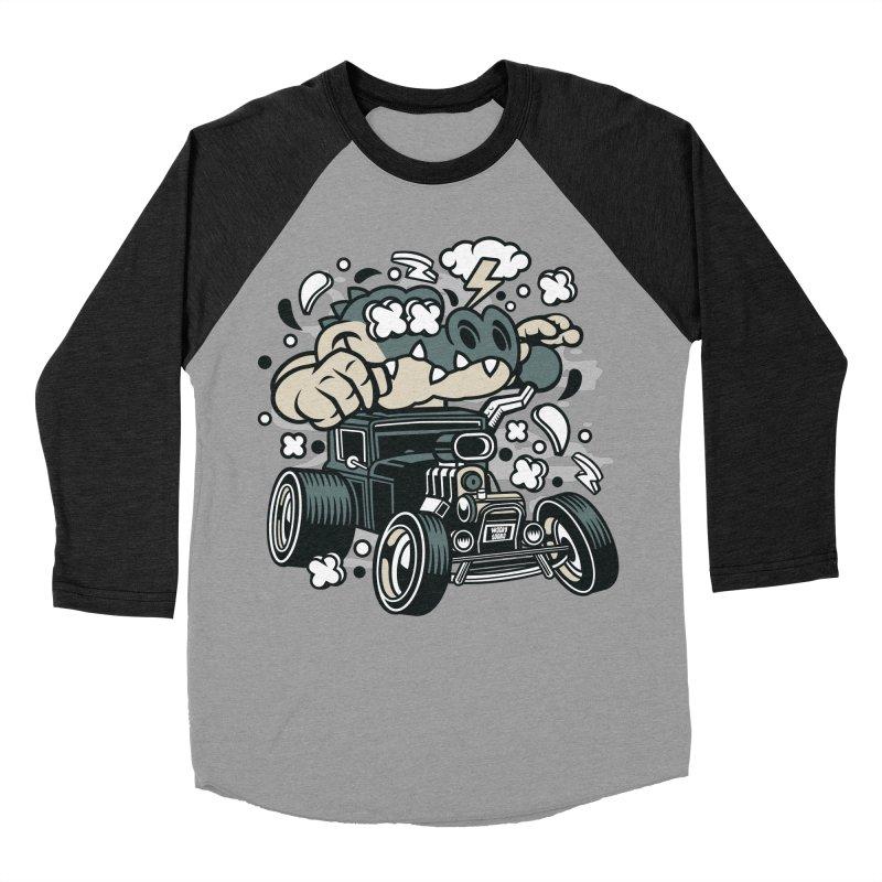 Croc Rod Men's Baseball Triblend Longsleeve T-Shirt by WackyToonz