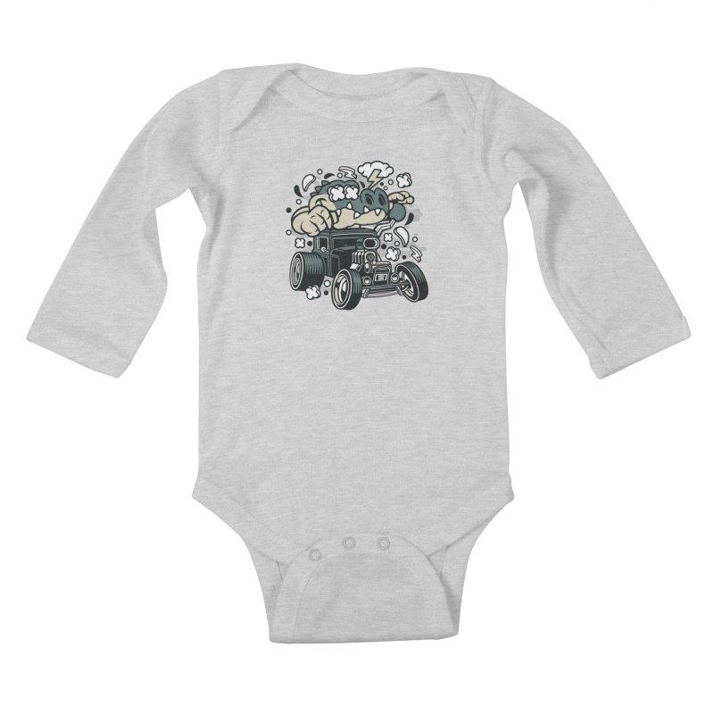 Croc Rod Kids Baby Longsleeve Bodysuit by WackyToonz