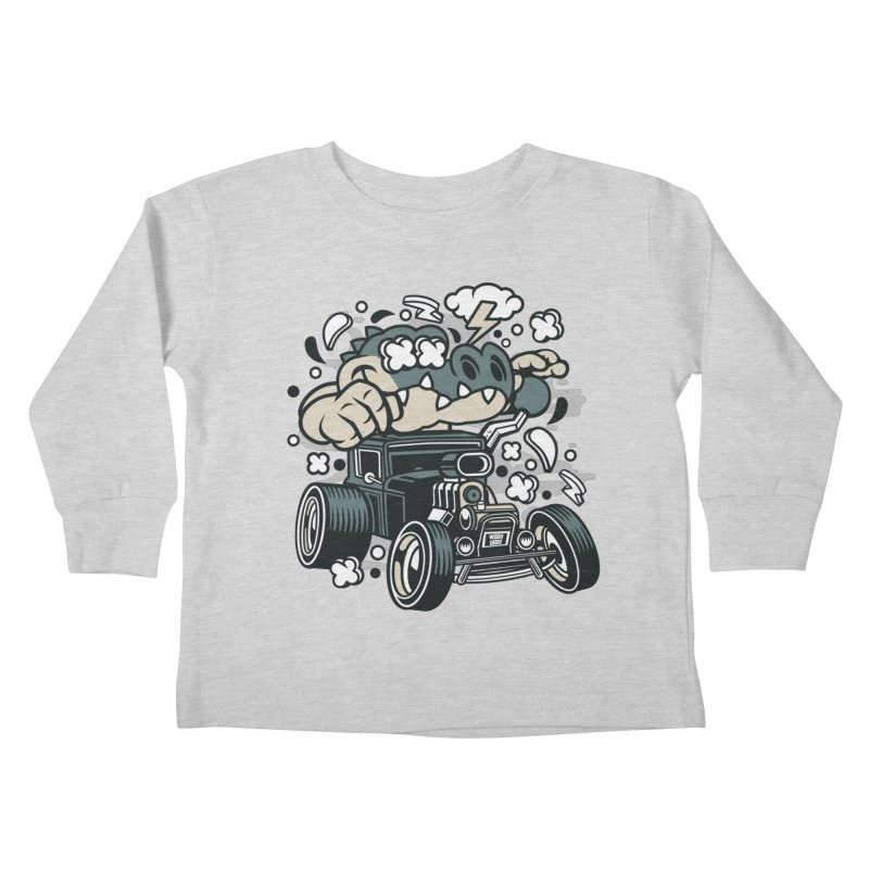 Croc Rod Kids Toddler Longsleeve T-Shirt by WackyToonz