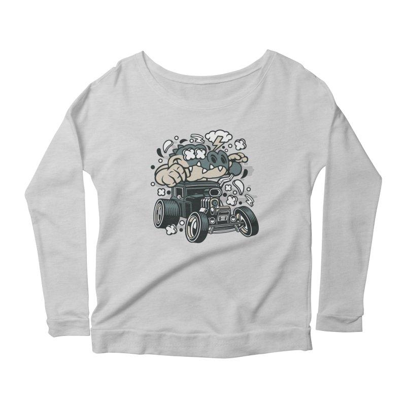 Croc Rod Women's Scoop Neck Longsleeve T-Shirt by WackyToonz