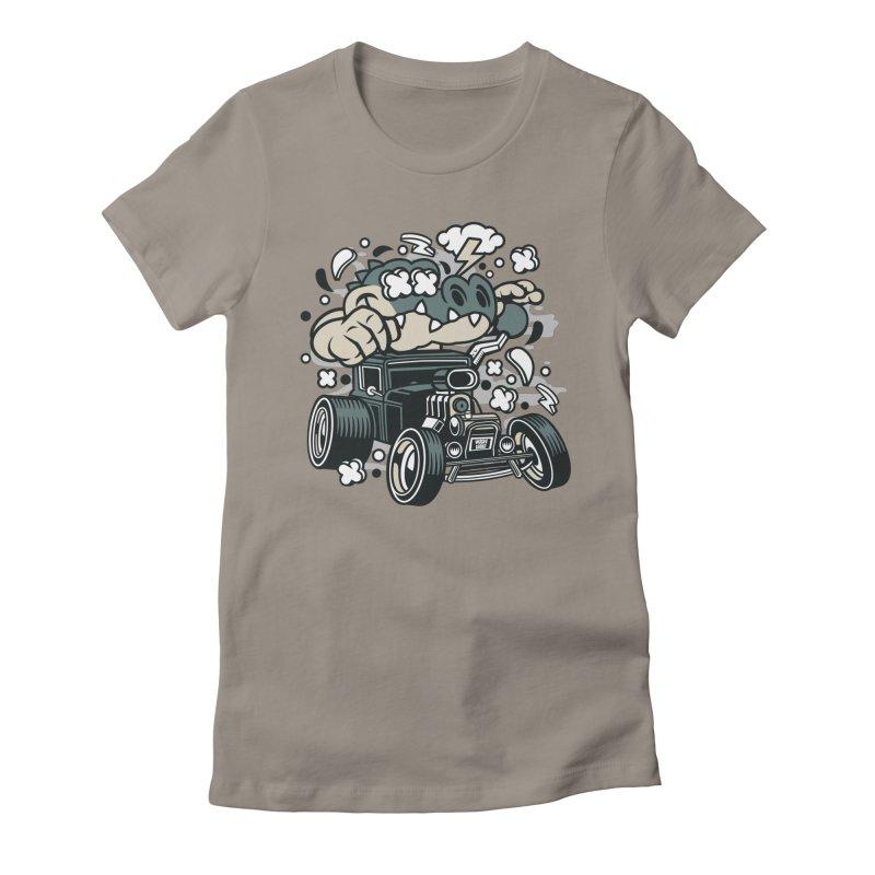 Croc Rod Women's Fitted T-Shirt by WackyToonz