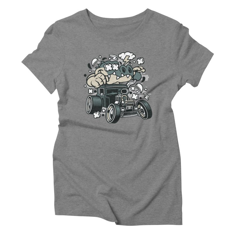 Croc Rod Women's Triblend T-Shirt by WackyToonz
