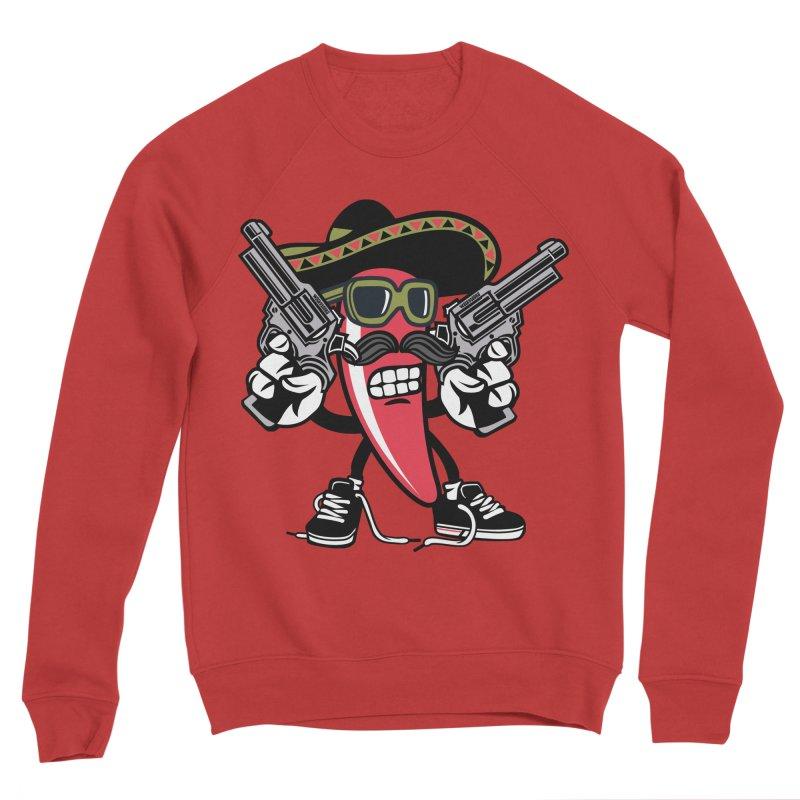 Hot and Spicy Men's Sponge Fleece Sweatshirt by WackyToonz